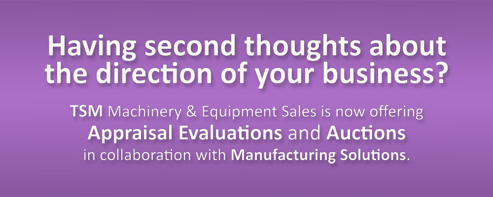 Appraisal Auctions Manufacturing Solutions